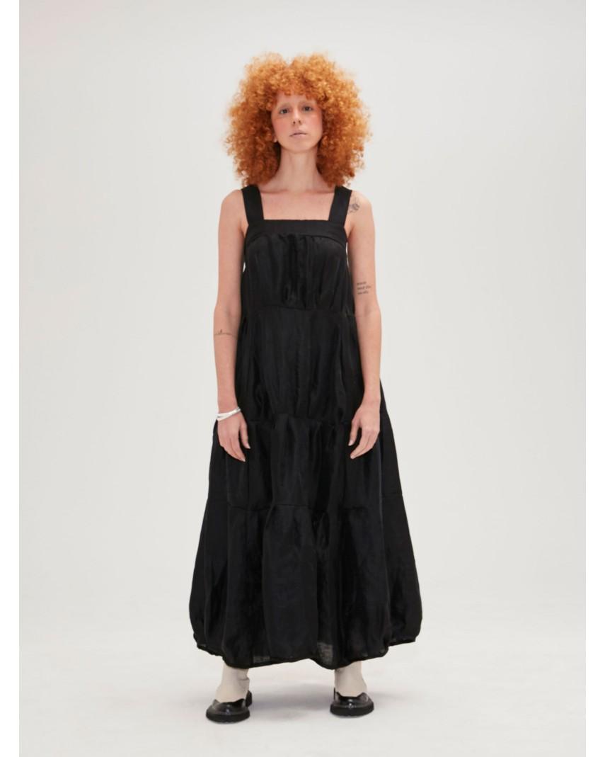 Vestido Linho - Preto