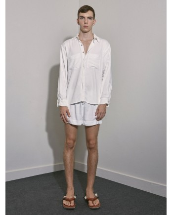Camisa ML Crepe - Off White