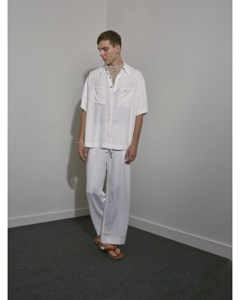 Camisa Ampla Crepe - Off White